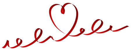 st valentins day: Barra multifunzione di Valentino a forma di cuore, illustrazione