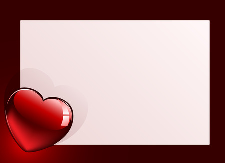 valentines card: Background with Heart and Valentines card, illustration