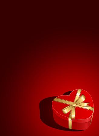 st valentins day: Giorno di San Valentino sfondo con confezione regalo e cuori, illustrazione
