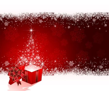 Open magic Gift box, illustration Vector