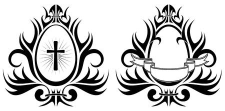 Two Easter eggs, illustration Vector