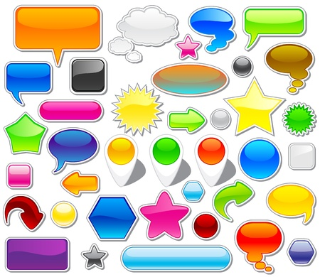 Set of colorful web elements, illustration Vector