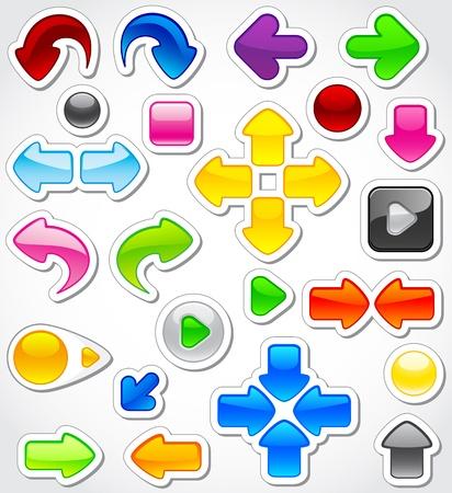 Set of colorful web elements, illustration Vector
