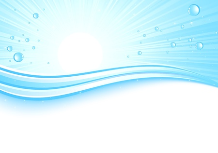 Sunburst background with drops, illustration Stock Vector - 9497877