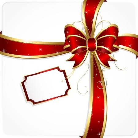 moños navideños: Arco de vacaciones y cinta, ilustración