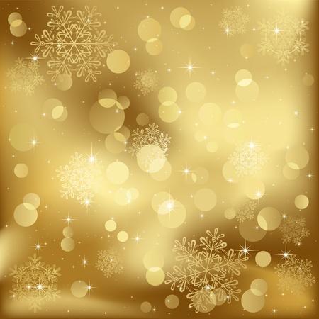 blurry lights: Abstract background, con stelle, fiocchi di neve e luci sfocate, illustrazione Vettoriali