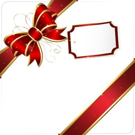 ruban or: Holiday bow et ruban, illustration