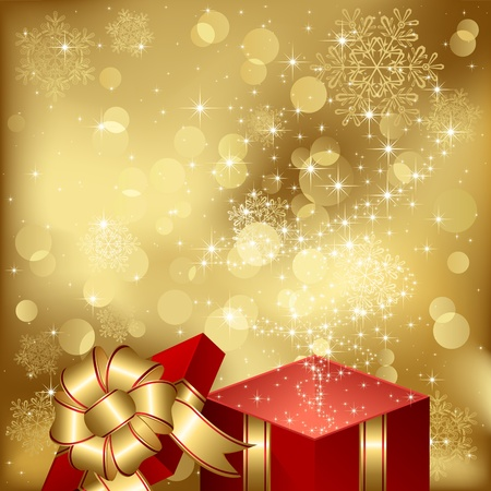 Open magic Gift box, illustration Vector