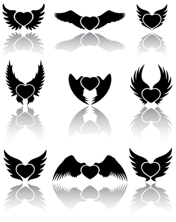 Set of Hearts icons, illustration Stock Vector - 12045552
