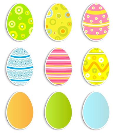 speck: Collection of nine Easter eggs, illustration Illustration
