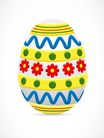 The painted Easter egg, illustration Vector