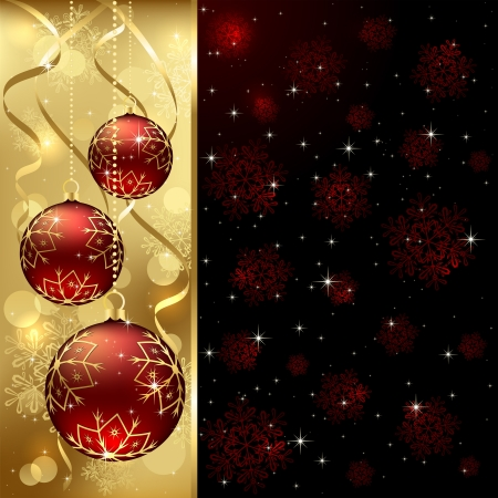 Christmas background with baubles, illustration.  Stock Vector - 15753071
