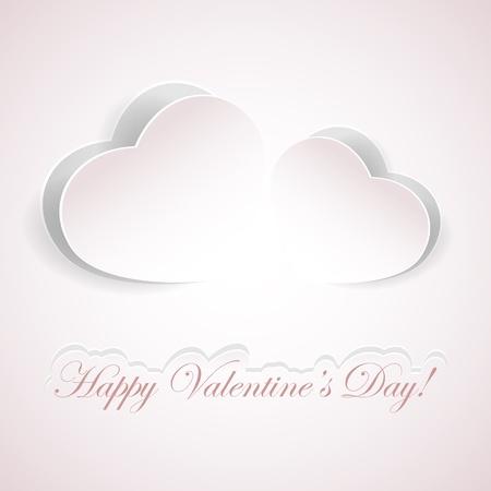 st valentins day: Sfondo di San Valentino con cuori di carta, illustrazione. Vettoriali