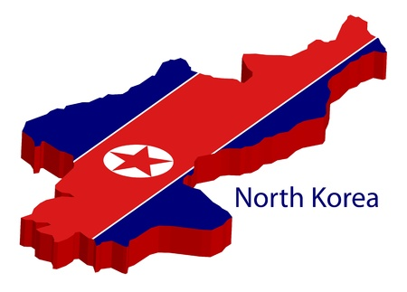 North Korea on white background, illustration Stock Vector - 18990657