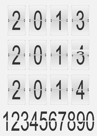 digital timer: Mechanical countdown timer on gray background, illustration  Illustration