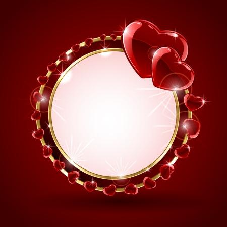 ファイナルファンタ. 円図の形で赤いバレンタインの背景