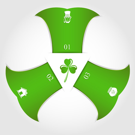 Patricks day infographic with icons and numbers, illustration  Vector