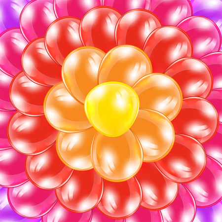 colored balloons: Holiday background from colorful balloons in the form of flower, illustration