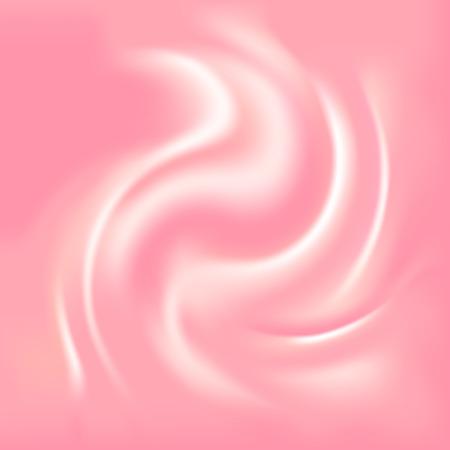 cremoso: Rosa abstrato com uma textura cremosa, ilustra Ilustra��o