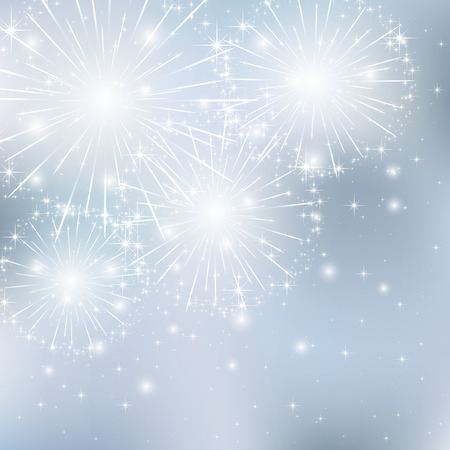 Set of sparkle firework on gray background, illustration