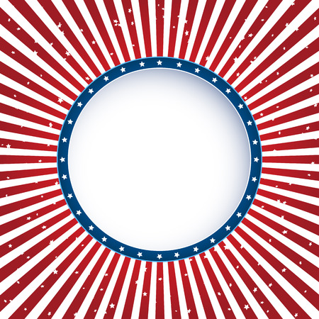 independence day: Independence day circle background with red lines, illustration