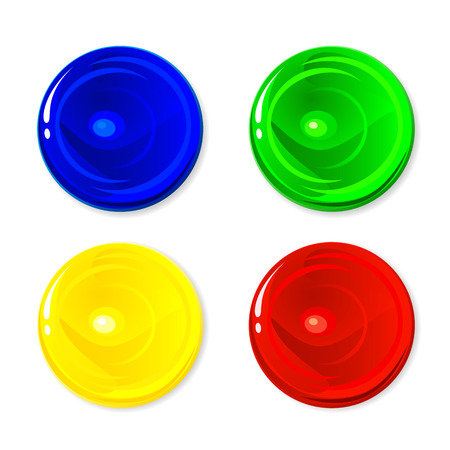 Set of colorful circles isolated on white background, illustration Vector