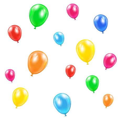 balon: Flying balloons isolated on white background, illustration