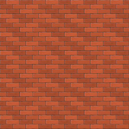 Rode bakstenen muur, abstracte naadloze achtergrond, illustratie.