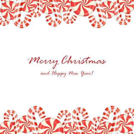Christmas candies isolated on white background, illustration.