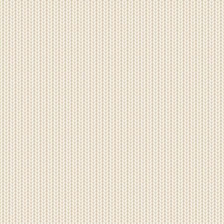 Seamless background, beige knitted pattern, illustration.