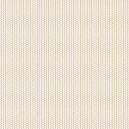 Naadloze achtergrond, beige gebreide patroon, illustratie.