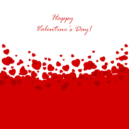 st  valentine       day: Abstract Valentines background with red hearts, illustration.
