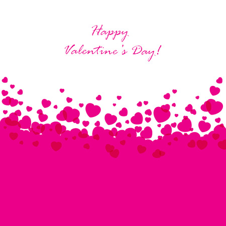 st valentin's day: Abstract Valentines background with pink hearts, illustration.