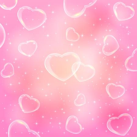 soapy: Rosa de San Valent�n con corazones brillantes, ilustraci�n.