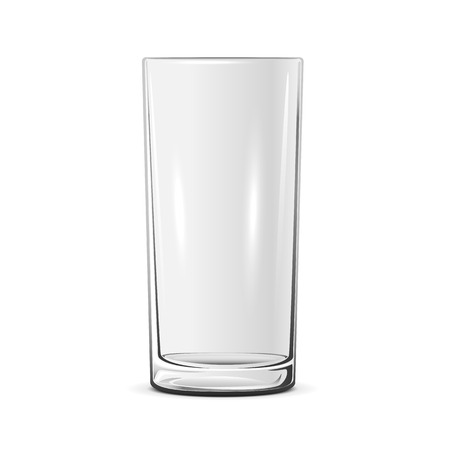 glass cup: Empty glass isolated on white background, illustration.