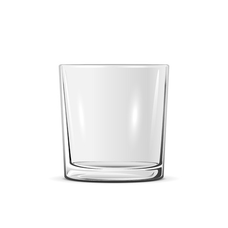 Empty little glass isolated on white background, illustration.