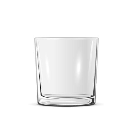 Leeg klein die glas op witte achtergrond, illustratie wordt geïsoleerd.
