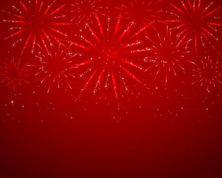 빨간색 불꽃 놀이 어두운 배경에 불꽃 놀이. 스톡 콘텐츠 - 42101256