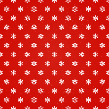 christmas red: Red Christmas background with snowflakes, seamless pattern, illustration.