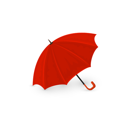 red umbrella: Red umbrella isolated on a white background, illustration.