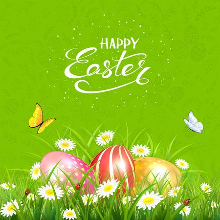 Easter eggs image illustration 矢量图像