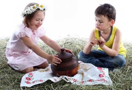 niños jugando Foto de archivo