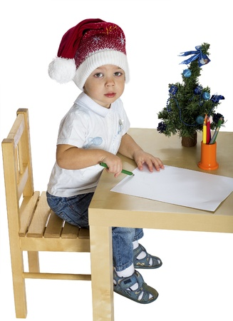 the little boy in a New Year Stock Photo - 16902263