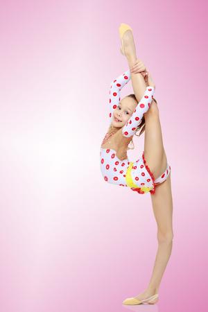 Gymnastin die spaltet Standard-Bild - 78107066
