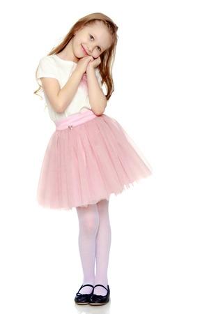 Beautiful little girl 5-6 years. Imagens