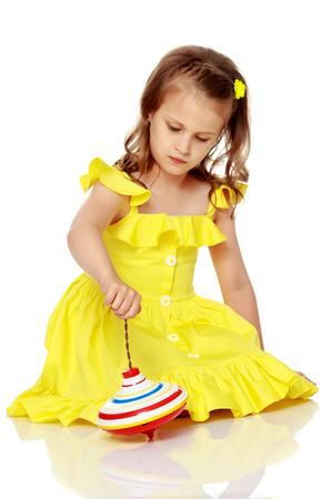 Little girl playing Foto de archivo