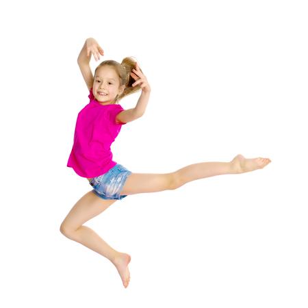 Mädchen Turner springen Standard-Bild - 96287493