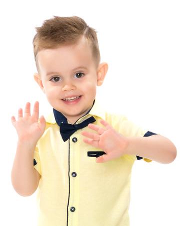 Portrait of a little boy close-up. Standard-Bild