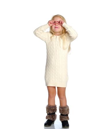 Little girl gesticulating.