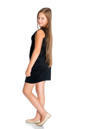 Beautiful teenage girl in full growth Stock Photo
